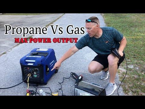 Max Power Output Comparison Propane Vs Gasoline Using Dual Fuel Generator