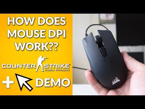 How Does Mouse DPI Work? (250 vs 1000 vs 3000 vs 6000 dpi - Mouse Cursor and CSGO DEMO)