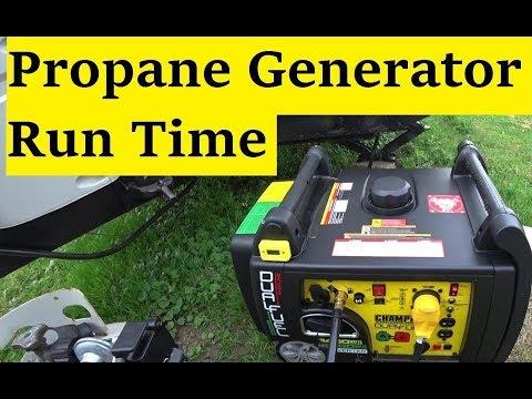 Champion 100263 Propane generator run time test PT 1