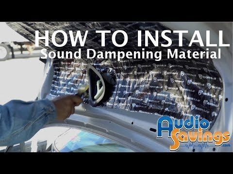 HOW TO INSTALL DYNAMAT SOUND DAMPENING / DEADENING MATERIAL (RockMat, Hushmat, Dynamat)