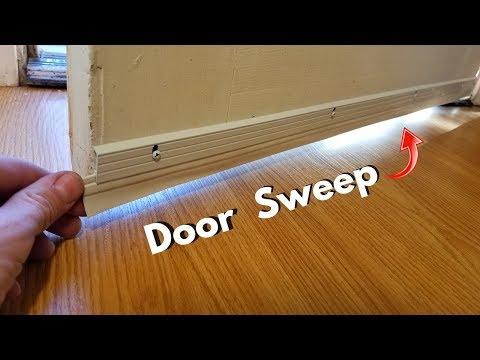 Installing a Door Sweep. Seal Gap, Keep Drafts & Bugs Out! -Jonny DIY