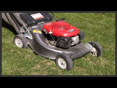 How to adjust the lawnmower's cutting height