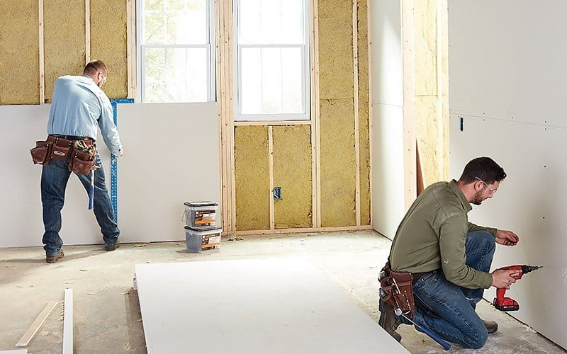 Putting up a drywall is one of the most effective ways to soundproof your home