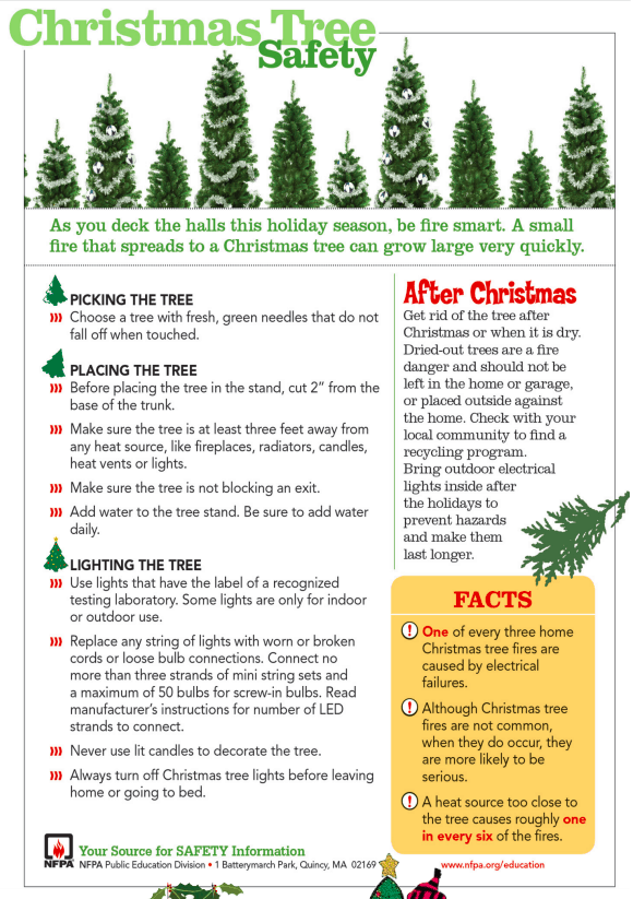 christmas tree fire safety prevention tips
